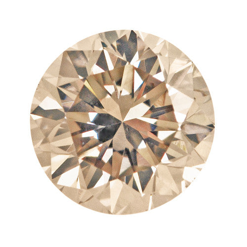 0.43 Carat Natural Cappuccino Color Fancy Loose Light Brown Diamond | Round Brilliant VS2 Clarity