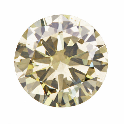 1.01 Carat Natural Fancy Yellow Color Loose Champagne Diamond | Round Brilliant Sl1 Clarity
