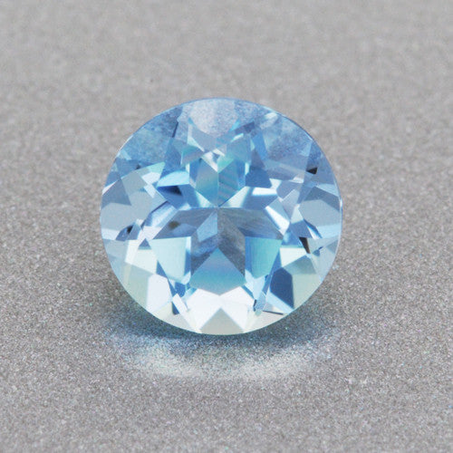 Loose Natural 0 31 Carat Round Aquamarine Deep Sky Blue