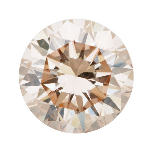 0.36 Carat Loose Pale Pink Champagne Diamond | Natural Color Round Brilliant VS1 Clarity