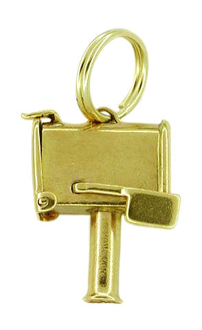 Mailbox Moveable Charm in 14 Karat Gold - Item: C297 - Image: 1