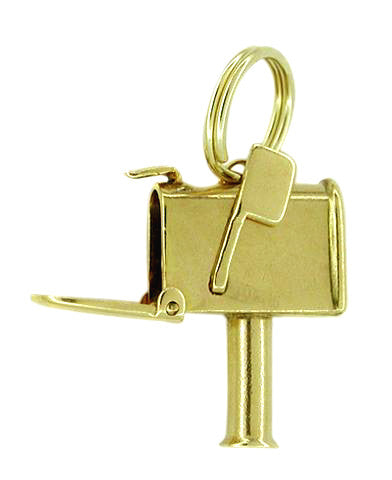 Mailbox Moveable Charm in 14 Karat Gold