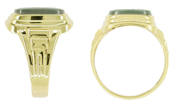 Man's Hematite Intaglio Ring in 10 Karat Gold - Item: MR120 - Image: 1