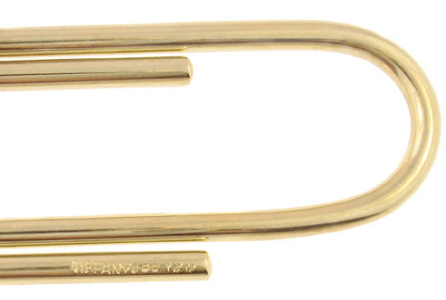 Tiffany & Co. Vintage Paper Clip Money Clip in 14 Karat Gold - Item: MC109 - Image: 1