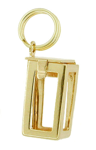 Movable Box Charm in 10 Karat Gold