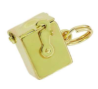 10 Karat Gold Movable Jack in the Box Charm Pendant - Item: C170 - Image: 1