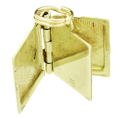Movable Opening Book Charm in 10 Karat Gold - Item: C161 - Image: 1