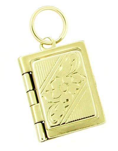 Movable Opening Book Charm in 10 Karat Gold