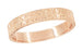 Mens Antique Style Art Deco Engraved Wheat Wedding Ring in 14 Karat Rose Gold - 4mm
