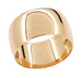 Men's 14 Karat Rose Gold 10mm Wide Domed Wedding Band Ring - Size 12