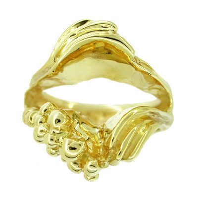 Ocean Wave Ring Guard in 14 Karat Gold