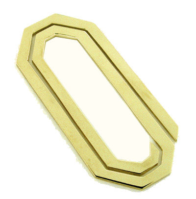 Paper Clip Money Clip in 14 Karat Gold