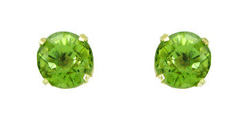 Arizona Peridot Stud Earrings in 18 Karat Gold