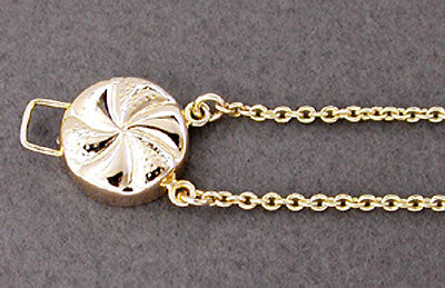 Pinwheel Slide Starter Bracelet in 14 Karat Gold - Double Hole Design