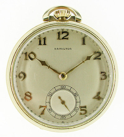 Hamilton Open Face Gold Filled Pocket Watch - 10 Size