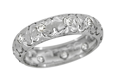 Art Deco Diamond Antique Flanders Wedding Ring in Platinum - Size 5 1/2