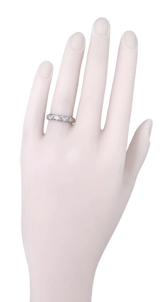 Art Deco Devon Antique Filigree Diamond Wedding Ring in Platinum - Size 6 - Item: R1099 - Image: 1