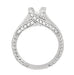 X & O Kisses 1/2 Carat Diamond Engagement Ring Setting in White Gold