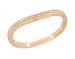 Art Deco Curved Engraved Wheat Wedding Ring in 14 Karat Rose Gold