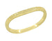 Art Deco Curved Engraved Wheat Wedding Ring in 14 Karat Yellow Gold