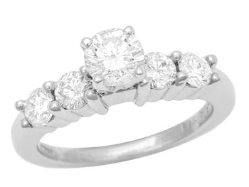 1960's Vintage Floating Diamonds Engagement Ring in Platinum