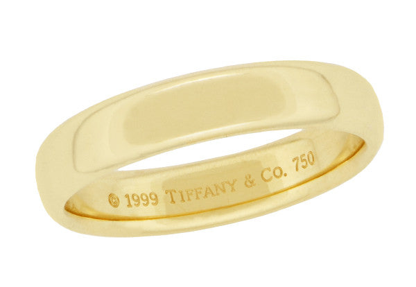 45mm Tiffany Co Lucida Wedding Band 18K Yellow Gold Ring Size 875