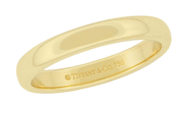Tiffany & Co Lucida Wedding Band 3mm Wide in 18K Yellow Gold Ring Size 6