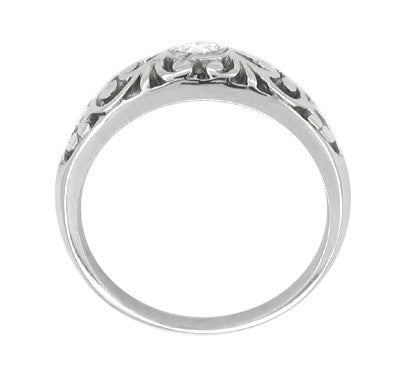 Edwardian Filigree Diamond Ring in Platinum - Item: R197P - Image: 1