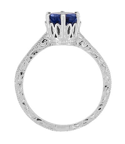 Details about  /1.5 Ct Classic Art Deco Diamond Sapphire Engagement Ring S925 Sterling Silver
