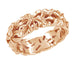 Rose Gold Calla Lilies Filigree Wedding Band