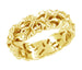 Calla Lilies Filigree Wedding Band in 14 Karat Yellow Gold - 6.6mm Wide