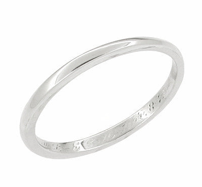 Antique Platinum Wedding Band