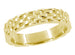 Vintage Style Basket Weave Wedding Band in 14K Yellow Gold
