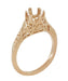 Art Deco 3/4 - 1 Carat Crown of Leaves Filigree Engagement Ring Setting in 14K Rose Gold