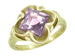 Victorian Square Lilac Amethyst Ring in 14 Karat Yellow Gold