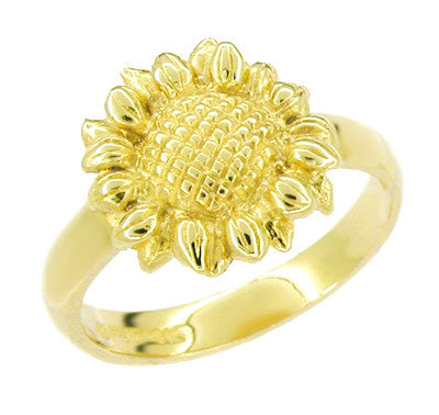 Sunflower Ring in 14 Karat Yellow Gold
