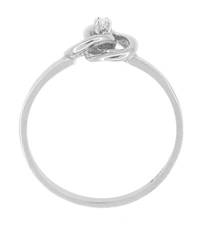 Love Knot Diamond Ring in 14 Karat White Gold - Item: R376 - Image: 1