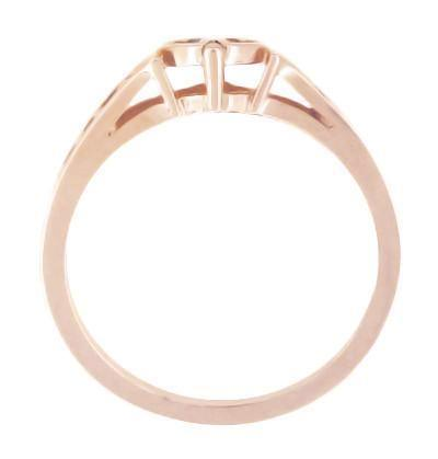 Snuggling Hearts Filigree Promise Ring in 14 Karat Rose Gold - Item: R384R - Image: 1