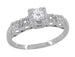 1/4 Carat 1930's Illusion Art Deco Platinum Diamond Engagement Ring
