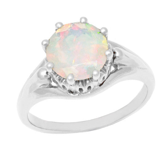 14Kt Gold Pink /& White Opal Oval Ring