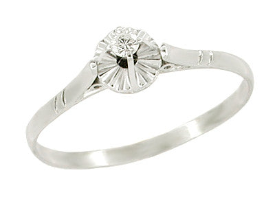 Diamond Set Filigree Buttercup Ring in 18 Karat White Gold