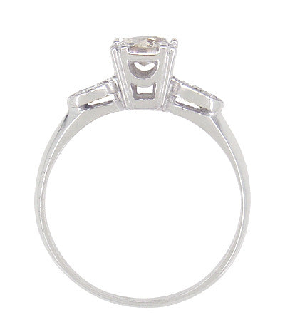 Retro Moderne 14 Karat White Gold Antique Diamond Engagement Ring - Item: R445 - Image: 2
