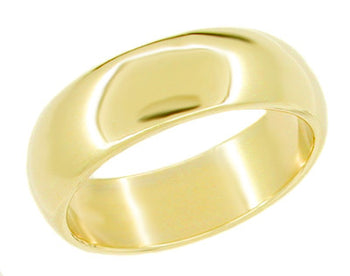 Women's 5.7 mm Wedding Band Ring | 14K Yellow Gold | Size 5.25