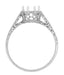 Royal Crown 1 - 1.25 Carat Antique Style Engraved Platinum Engagement Ring Setting