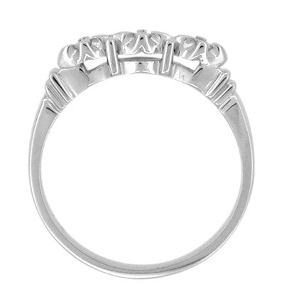 Retro Moderne Starburst Galaxy Engagement Ring Set in Platinum - Item: R481PSET - Image: 3