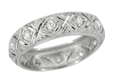 Art Deco Gaylordsville Vintage Filigree Diamond Wedding Ring - Platinum - Size 7