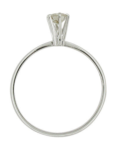 Estate High Set 0.26 Carat Diamond Solitaire Engagement Ring in 14 Karat White Gold - Item: R591 - Image: 1