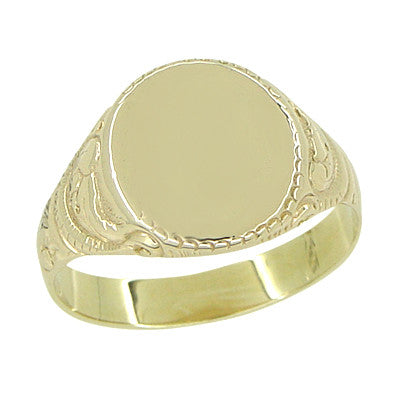 Antique Victorian Signet Ring in 14 Karat Gold