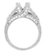 X & O Kisses 1 Carat Princess Cut Diamond Engagement Ring Setting in Platinum