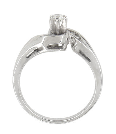 Secret Hearts Diamond Twist Ring in 14 Karat White Gold - Item: R787 - Image: 2